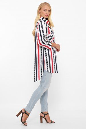 Vlavi: Рубашка Стиль полоса 114615 - фото 3