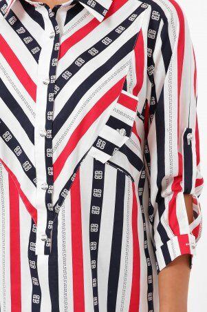 Vlavi: Рубашка Стиль полоса 114615 - фото 6