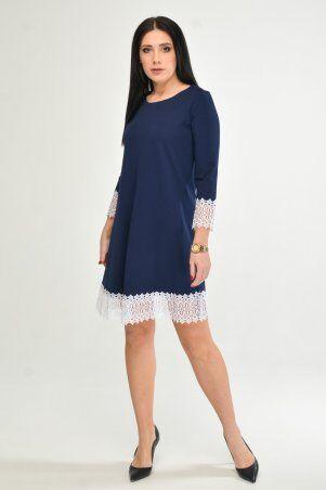 KOTIKI: Синее платье с отделкой из кружева 1960/2 - фото 1