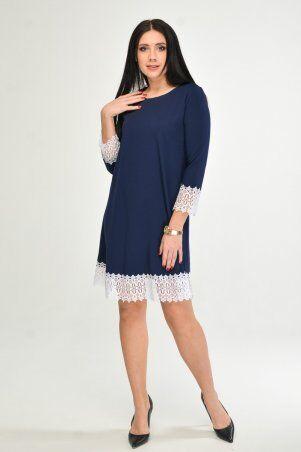 KOTIKI: Синее платье с отделкой из кружева 1960/2 - фото 2