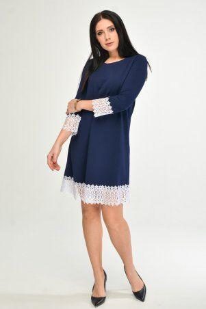 KOTIKI: Синее платье с отделкой из кружева 1960/2 - фото 3