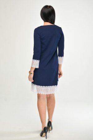 KOTIKI: Синее платье с отделкой из кружева 1960/2 - фото 4