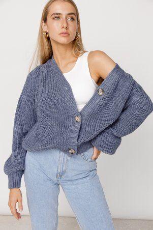 ALDi Di: Оверсайз кардиган крупной вязки, джинсовый оттенок al00466 - фото 1