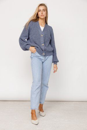 ALDi Di: Оверсайз кардиган крупной вязки, джинсовый оттенок al00466 - фото 2