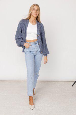 ALDi Di: Оверсайз кардиган крупной вязки, джинсовый оттенок al00466 - фото 4