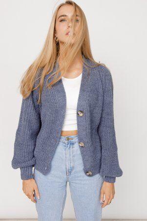 ALDi Di: Оверсайз кардиган крупной вязки, джинсовый оттенок al00466 - фото 5