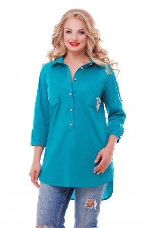 Vlavi: Рубашка Стиль Бирюза 114602 - фото 1