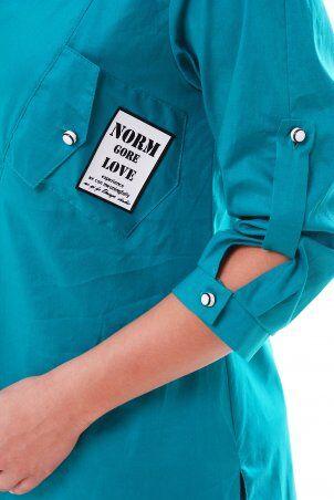 Vlavi: Рубашка Стиль Бирюза 114602 - фото 3