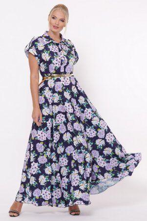 Vlavi: Платье Алена Гортензия синее 1143246 - фото 1