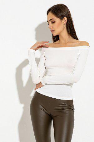 It Elle: Молочный лонгслив с открытыми плечами Аделаида 8682 - фото 1