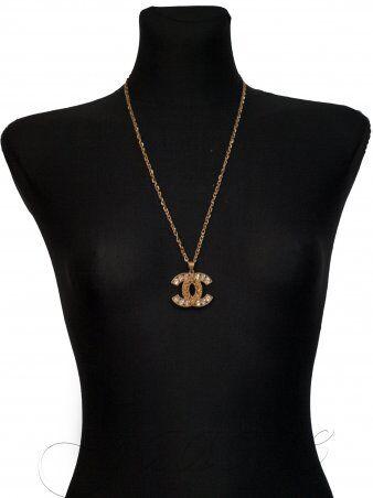 Jadone Fashion: Подвеска Chanel камни золотой металлик - фото 1
