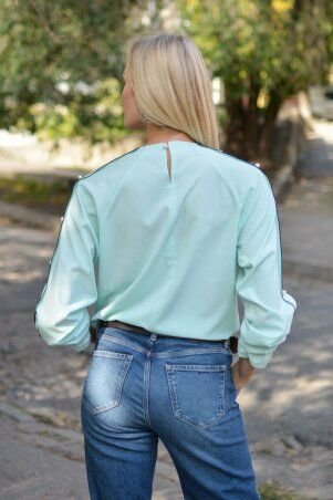 KOTIKI: Элегантная блузка с жемчуженками на рукавах 19322 - фото 5
