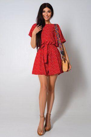 Jadone Fashion: Комбинезон ромпер Колибри красный - фото 1