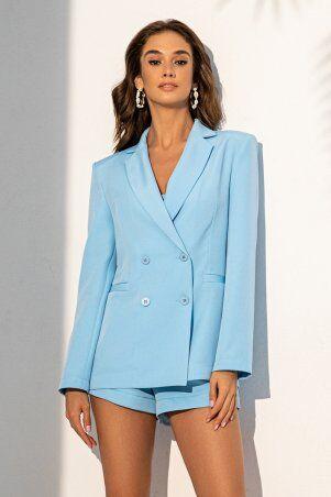 It Elle: Удлиненный жакет голубого цвета 7088 - фото 1