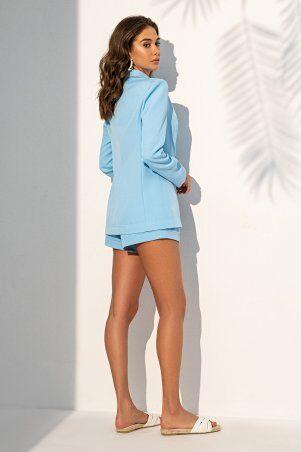 It Elle: Удлиненный жакет голубого цвета 7088 - фото 3