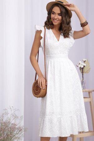 Glem: Платье Дария б/р белый 1 p70872 - фото 1