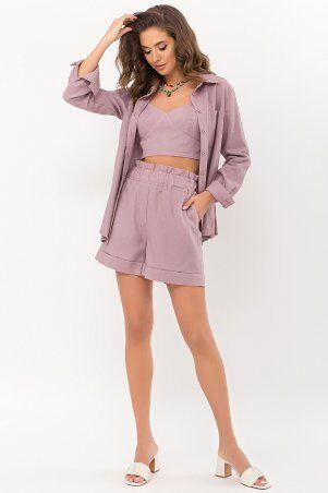 Glem: Рубашка Оделис д/р лиловый p70880 - фото 1