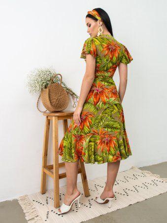 Larionoff: Платье Tropicana Серый принт 001933 - фото 3