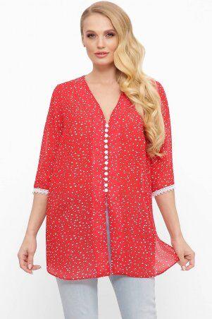 Tatiana: Шифоновая блуза с пуговичками КЕЙТ красная - фото 1