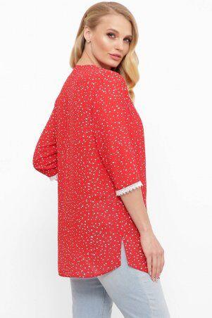 Tatiana: Шифоновая блуза с пуговичками КЕЙТ красная - фото 2