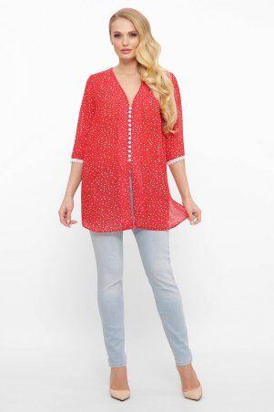 Tatiana: Шифоновая блуза с пуговичками КЕЙТ красная - фото 3