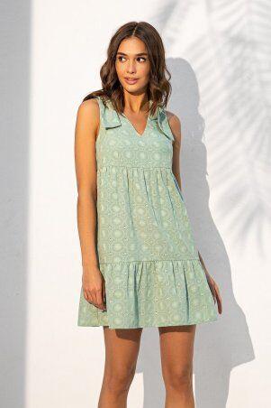 It Elle: Летний сарафан из прошвы с декоративными завязками на плечах мятного цвета 51291 - фото 1