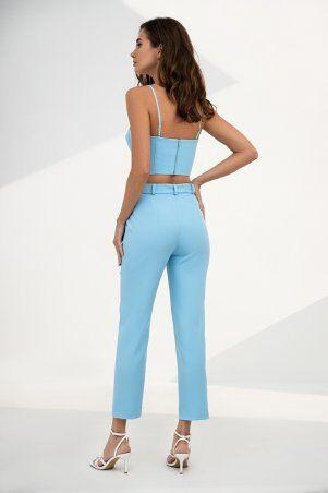 It Elle: Голубые зауженные брюки Ребекка 4221 - фото 2