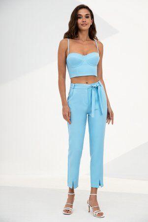 It Elle: Голубые зауженные брюки Ребекка 4221 - фото 3