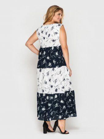 Vlavi: Платье Тала сине-белое 128410 - фото 3
