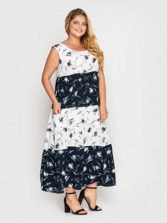 Vlavi: Платье Тала сине-белое 128410 - фото 4