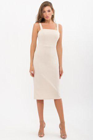 Glem: Платье Абаль б/р бежевый p72108 - фото 1