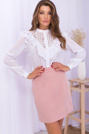 Glem: Блуза Фезалия д/р белый p71236 - фото 1