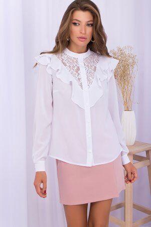 Glem: Блуза Фезалия д/р белый p71236 - фото 2