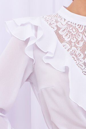 Glem: Блуза Фезалия д/р белый p71236 - фото 5
