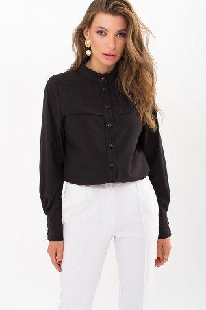 Glem: Блуза Алона д/р черный p71434 - фото 1