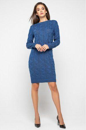 "Prima Fashion Knit: Вязаное платье ""Каролина""- джинс 5541005 - фото 1"
