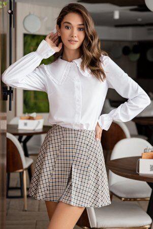 It Elle: Белая рубашка с крупным воротником Мелоди 21274 - фото 1