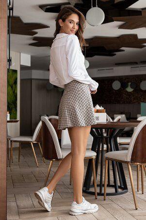 It Elle: Белая рубашка с крупным воротником Мелоди 21274 - фото 2