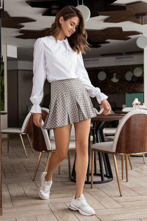It Elle: Белая рубашка с крупным воротником Мелоди 21274 - фото 3