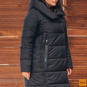 МОДА ОПТ: Куртка женская удлиненная зимняя 71 - фото 3
