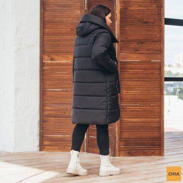 МОДА ОПТ: Куртка женская удлиненная зимняя 71 - фото 4