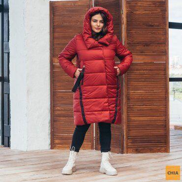 МОДА ОПТ: Куртка женская удлиненная зимняя 71 - фото 5