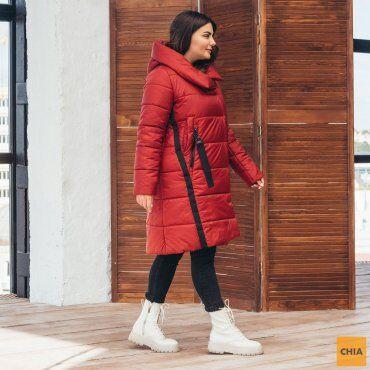 МОДА ОПТ: Куртка женская удлиненная зимняя 71 - фото 6