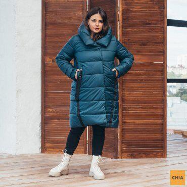МОДА ОПТ: Куртка женская удлиненная зимняя 71 - фото 8