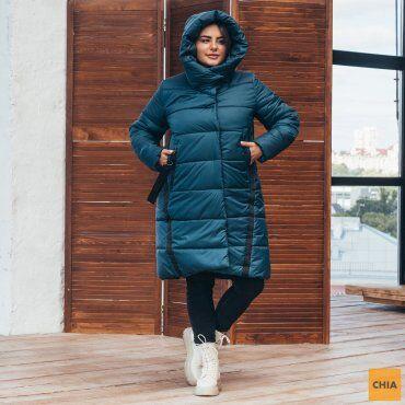 МОДА ОПТ: Куртка женская удлиненная зимняя 71 - фото 9