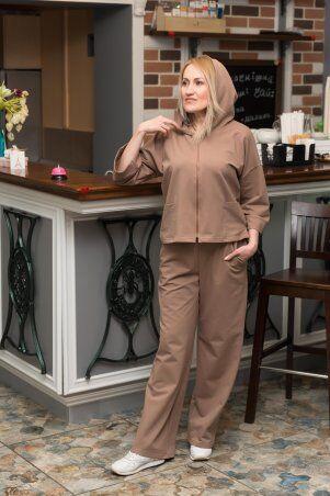 Catrina: Стильный женский костюм с широкими штанами - палацо и кофтой на молнии 2216 - фото 1