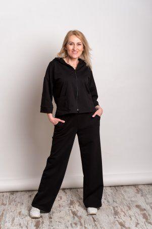 Catrina: Стильный женский костюм с широкими штанами - палацо и кофтой на молнии 2211 - фото 1