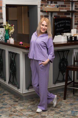 Catrina: Стильный женский костюм с широкими штанами - палацо и кофтой на молнии 2206 - фото 1