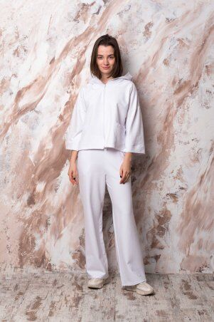 Catrina: Стильный женский костюм с широкими штанами - палацо и кофтой на молнии 2201 - фото 1