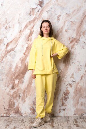 Catrina: Стильный женский костюм с широкими штанами - палацо и кофтой на молнии 2191 - фото 1